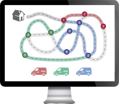 Software para rutas de reparto